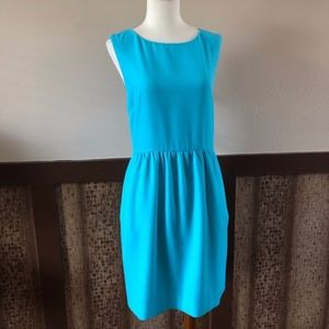 J. Crew Caribbean Blue Dress with Pockets